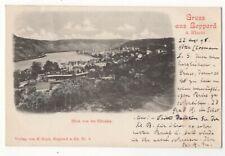 Gruss Aus Boppard Am Rhein Blick Von Der Elfenley 1898 U/B Postcard Germany 162c