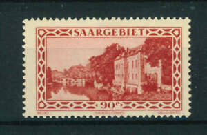 Germany Saargebiet 1926 set, issued 1932 Local Scene 90c red stamp Mint. Sg 116a