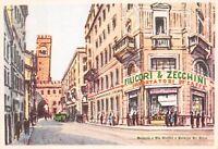 2094) BOLOGNA, VIA OREFICI E PALAZZO RE ENZO, FILICORI & ZECCHINI. CAFFE'.