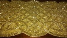 """GoLD BeADED TaBLE RuNNER 36"""" X 13"""" 50th AnNIVERSARY GoLDEN JuBILEE FrEE ShIP NWT"""