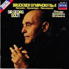 CD Bruckner Chicago Symphony Orchestra Sir Georg Solti Symphony No.4 Romantic