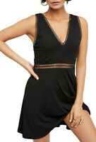 Free People Womens King Of My OB821136 Dress Relaxed Black Size US 0