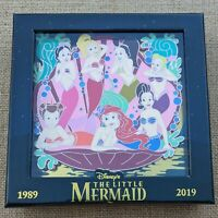 Ariel Sisters Jumbo Pin 2019 Disney Little Mermaid 30th Anniversary LE 1500