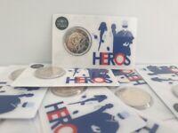 2 Euros Commémorative France 2020 Recherche Médicale HEROS BU