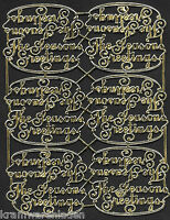 alte Dresdner Pappe Ornamete Schrift, The Seasons Greetings - DRESDEN ORNAMENTS