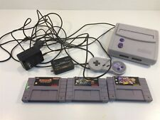Nintendo Entertainment System Super NES Console SNS-101 With 3 Games 1 Control