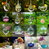 Clear Round Angel Heart Glass Vase Bottle Terrarium Flower Home Wedding Decor