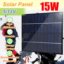 15W Portable Solar Panel High Efficiency Battery Charger For RV Car Boat Outdoor
