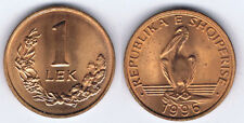 WHOLESALE 100 ALBANIA ONE ( 1 ) LEK UNC COINS of 1996 KM # 75 with PELICAN BIRD