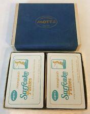 Vintage Motts Surfcake Patties Advertising Playing Cards Nib
