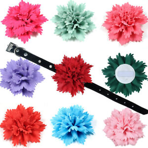1X Pet Dog Puppy Cat Flower Collar Charms Slide Attachment Accessories Dog Bows