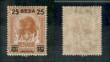 Colonies Somalia - 1923 - 25 BESA on 15 Cent on 2 Anna Lion (41) - MH
