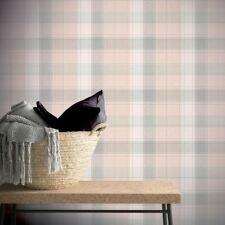 COUNTRY CHECK WALLPAPER ROLLS PINK - ARTHOUSE 901900