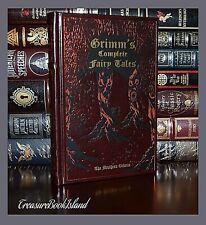 Brothers Grimm Complete Grimm's Fairy Tales Hardcover Leather Bound Collectible