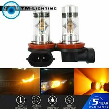 2X 100W H11 H8 H9 High Power For 3000K Orange LED Fog Lights Bulbs