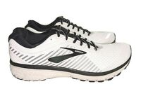 NEW- Brooks Ghost 12 Running Shoes Size 11.5 D 1103161D175 White Black MSRP $160
