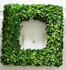 "NEW 20' Preserved  Boxwood SQUARE 20"" wreath Beautiful Home Door Wreath"