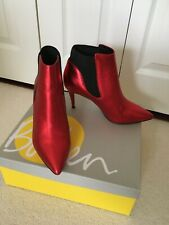 NEW Boden ladies red metallic leather boots  size 40 / 6.5UK