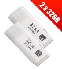 2 x Toshiba  32 GB USB 3.0 TransMemory Flash Drive - White (THN-U301W0320E4)