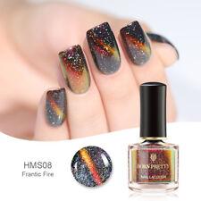BORN PRETTY Holographic Chameleon Cat Eye Nail Polish  Black Base Needed