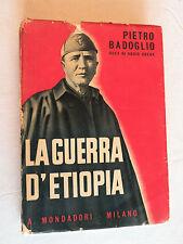 1936, Pietro Badoglio, La Guerra D'Etiopia (The War in Ethiopia), Mondadori 1st
