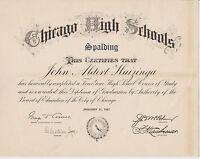 #MISC-0004 - 1947 SPALDING HIGH SCHOOL - CHICAGO ILLINOIS DIPLOMA