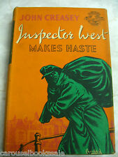 Inspector West makes Haste John Creasey Vintage 1st UK hcdj 1955 A15