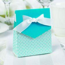 Aqua Te  & White Tent Favor Boxes Wedding Party Graduations Hortense B Hewitt
