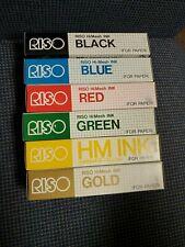Riso Print Gocco HiMesh Ink Set Black Blue Red Green Yellow Gold NEW