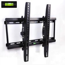 "Tilt Monitor LCD LED HD VESA TV Wall Mount Bracket 26 32 39 42 50 55"" air level"