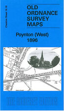 OLD ORDNANCE SURVEY MAP POYNTON WEST POYNTON TOWERS DISTAFF WIGWAM WOOD 1896