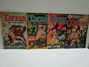 TARZAN of the APES  set # 1-4  DC 1972 Brilliant  for the collector KUBERT art