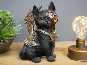 Industrial Style CAT Steampunk Ornament Metal Look Resin £24.75! FREE POST