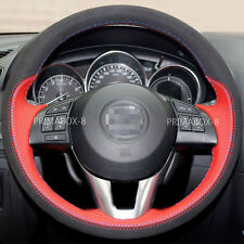 Stylish Suede Steering Wheel Cover Wrap for Mazda 3 M3 6 M6 CX-3 CX-5 CX5 13-17