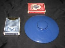 "Ceramic.LID ONLY Cobalt BLUE Pottery Outside 6.25"" Inside 5.5"" Fiesta Hall Calif"