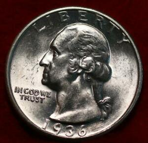 Uncirculated 1936 Phildelphia Mint Silver Washington Quarter