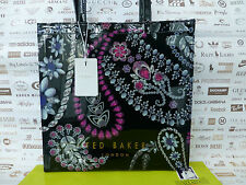 TED BAKER Ladies Tote Bag LARGE Black Handbag NINACON Trinket Icon Pvc Bags BNWT