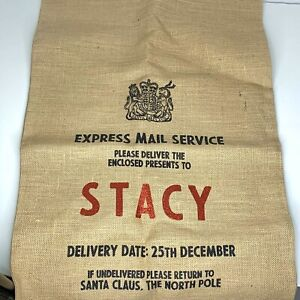 Harrow And Green Personalized Santa Sack Large Christmas Burlap Stacy