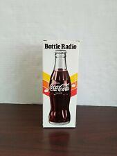 VINTAGE  Coca Cola BOTTLE RADIO WORKING and BOX