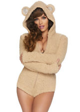 Womens Cute Fuzzy Teddy Bear Costume