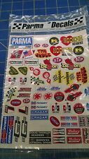 Parma 10607 Self Stick Hot Rod Logo Decal Sheet 1/10 slot car from Mid America N