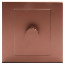 Simplicity Bronze Screwless Rotary 1 Gang LED Dimmer Light Switch 07204