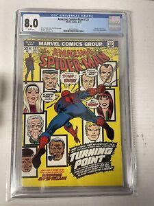 Amazing Spider-Man #121 CGC 8.0 1973 Death of Gwen Stacy
