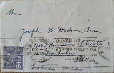 A) 1912, BRAZIL, FROM RIO DE JANEIRO TO UNITED STATES, AVIATION STAMP