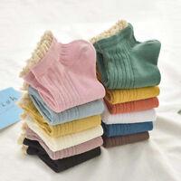 10Colors Women Girls Cotton Socks Lace Ruffles Princess Boat Short Ankle Socks