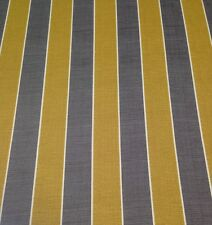 RICHLOOM WICKENBURG PATINA STRIPE GOLD GREY OUTDOOR FURNITURE FABRIC BY THE YARD