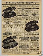 1941 PAPER AD Hampden Wrist Watch Detrola Candid Camera KW GW
