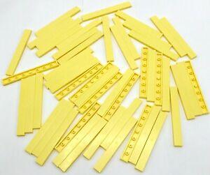 LEGO 50 Neuf Brillant Clair Jaune Tuiles 1 x 8 Plat Lisse Pièces
