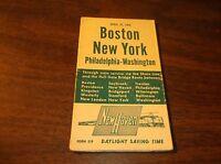 APRIL 1952 NEW HAVEN NYNH&H PUBLIC TIMETABLE BOSTON-WASHINGTON FORM 219