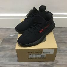 Adidas Yeezy Boost 350 V2 (Black/Red) 'Bred' Size UK 10
